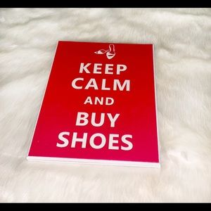 """Keep Calm And Buy Shoes"" Wood Sign"